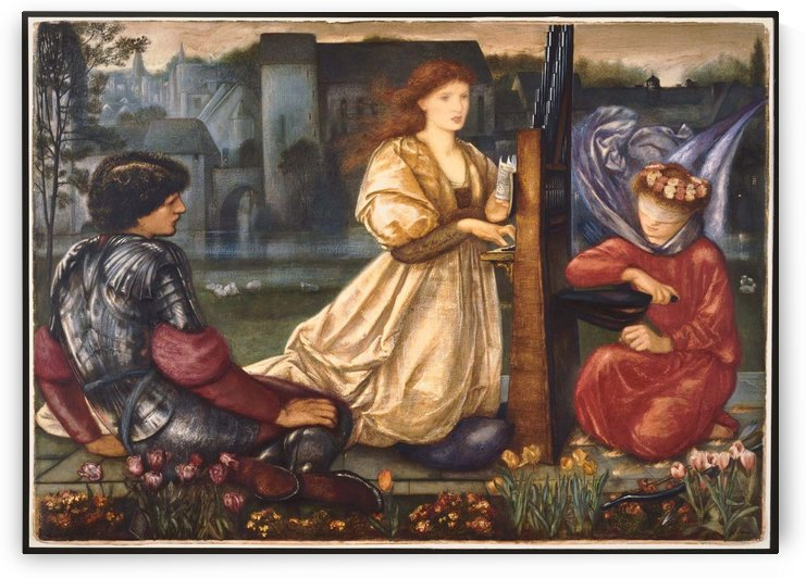 The Love Song, 1865 by Sir Edward Coley Burne-Jones