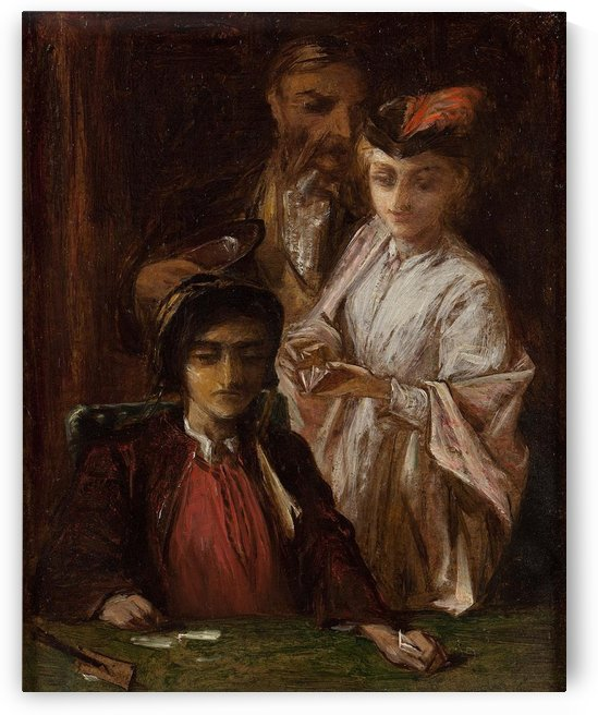 The gaming table by Alfred Elmore