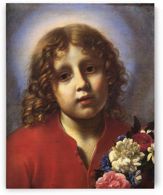 Child with flowers by Carlo Dolci