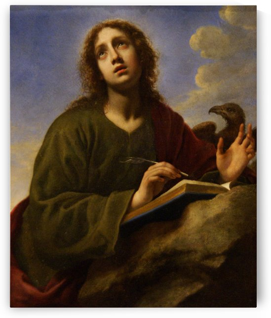 Saint John the Evangelist Writing the Book of Revelation by Carlo Dolci