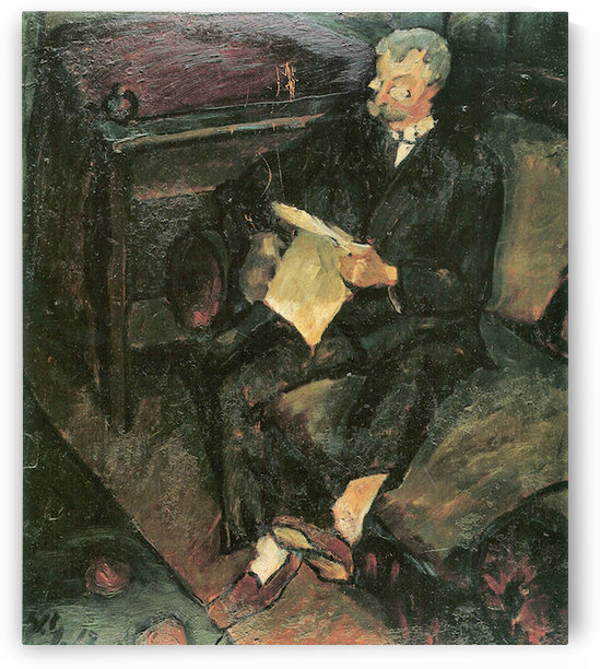 Father reading by Walter Gramatte by Walter Gramatte