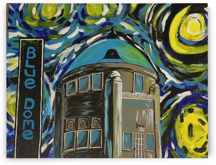 Starry Night at the Blue Dome by Crystal Wacoche