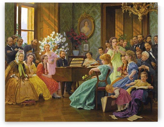 Bedrich Smetana and friends in 1865 by Franz Dvorak