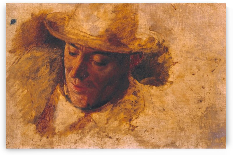 Study of a Man Head for Picciola by Robert Braithwaite Martineau