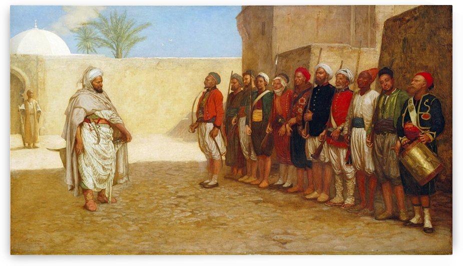 Army Reorganisation in Morocco 1872 by John Evan Hodgson