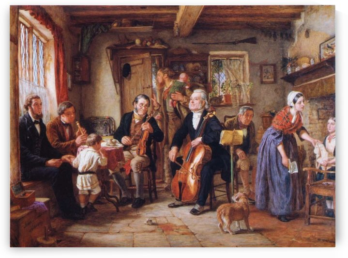 A Philharmonic Rehearsal in a Farmhouse by John Evan Hodgson