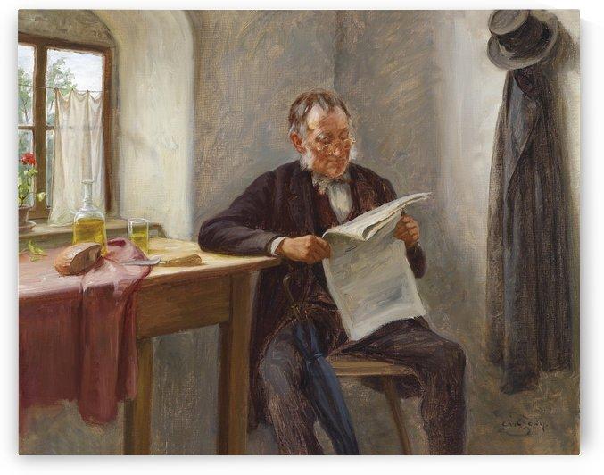 Der Zeitungsleser by Carl Zewy