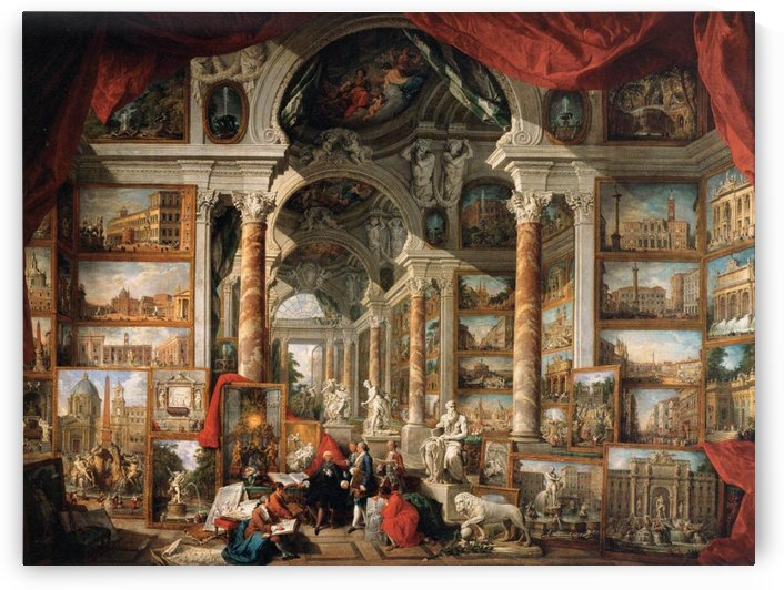 Gallery of Views of Modern Rome 1759 by Giovanni Paolo Pannini