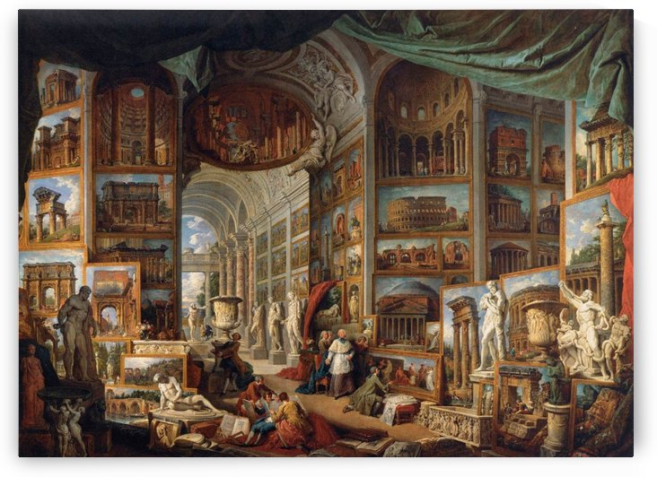 Gallery of Views of Ancient Rome 1758 by Giovanni Paolo Pannini