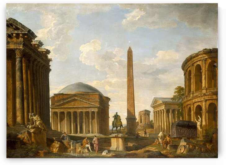 Roman Capriccio The Pantheon and Other Monuments by Giovanni Paolo Pannini