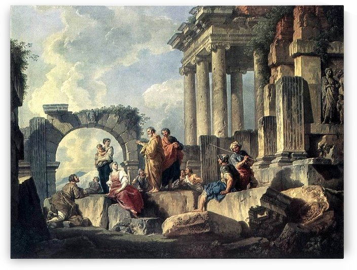 Paul Preaching on the Ruins by Giovanni Paolo Pannini