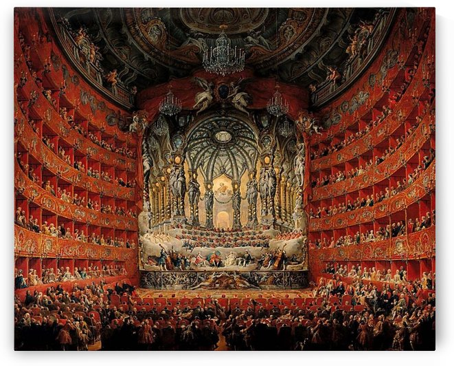 Argentina Theatre in Rome on the occasion of the wedding of the dauphin Louis to Maria Josephine of Saxony, in 1747 by Giovanni Paolo Pannini