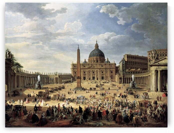 Departure of the Duc de Choiseul from the Piazza di San Pietro 1754 by Giovanni Paolo Pannini