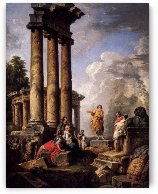 Ruins with St Paul Preaching 1735 by Giovanni Paolo Pannini