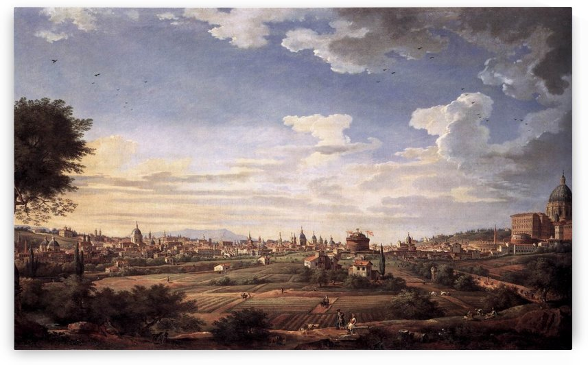 View of Rome from Mt Mario, in the Southeast by Giovanni Paolo Pannini