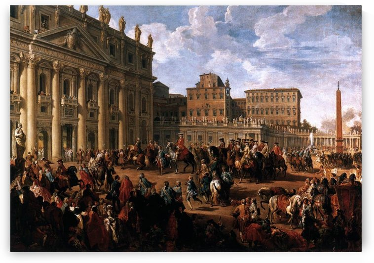Charles III at St Peter Church by Giovanni Paolo Pannini