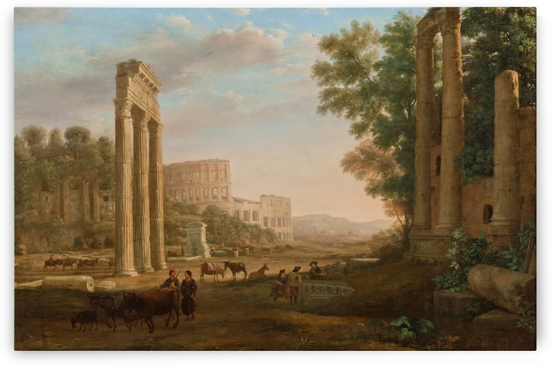 Capriccio with ruins of the Roman Forum by Giovanni Paolo Pannini