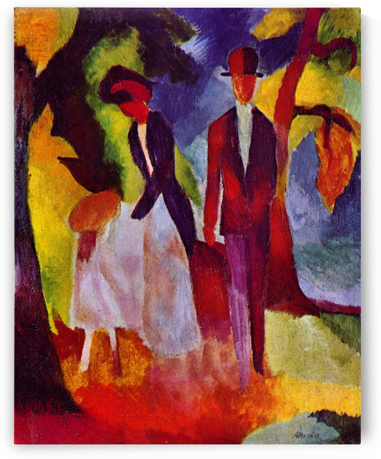 Folks at the blue sea by August Macke by August Macke