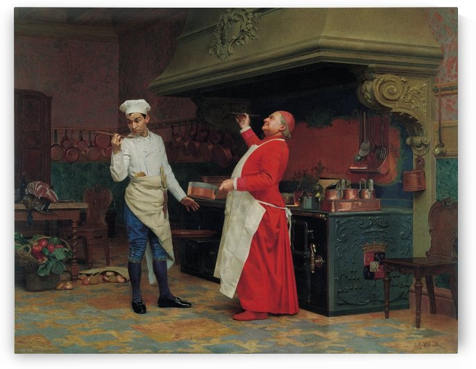 The Marvelous Sauce, 1890 by Jehan-Georges Vibert