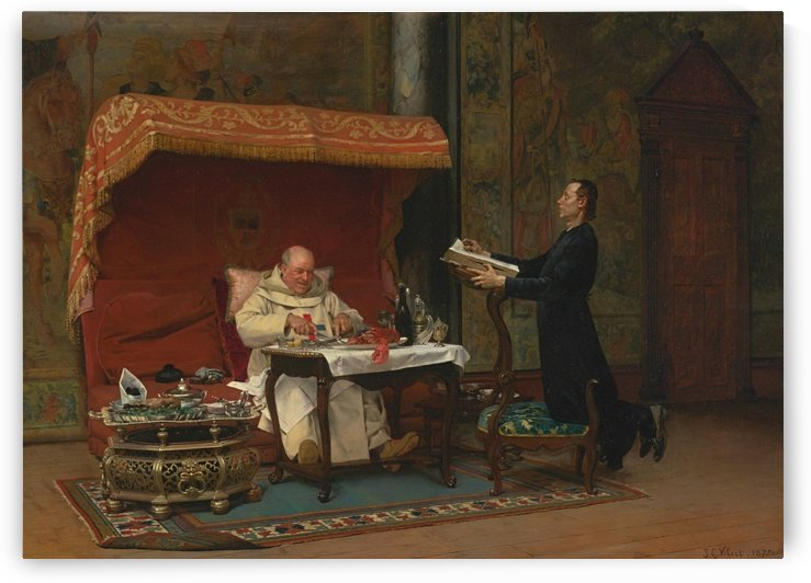 The canons dinner by Jehan-Georges Vibert