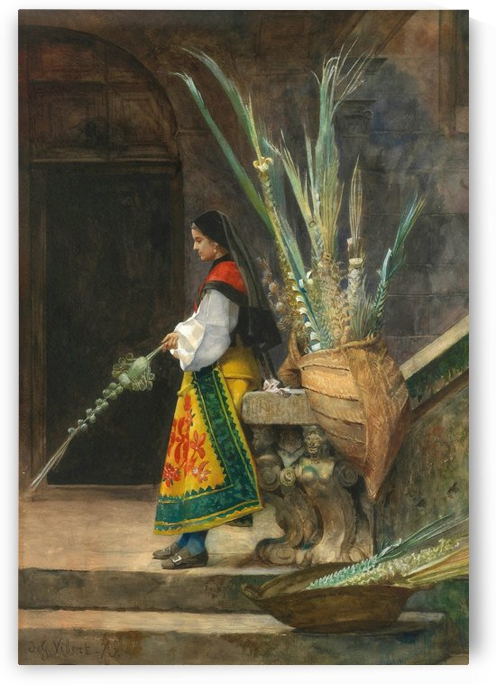 Palm Sunday in Spain by Jehan-Georges Vibert