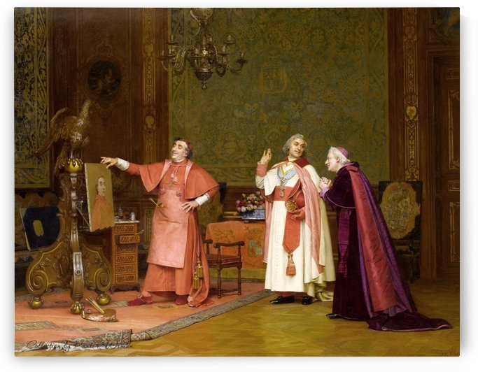 The three religious officials by Jehan-Georges Vibert