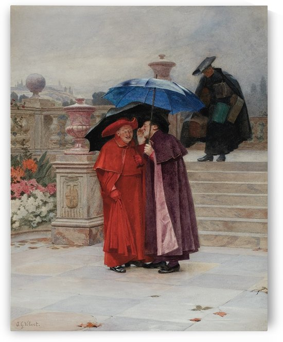 A Secret for the Cardinal by Jehan-Georges Vibert
