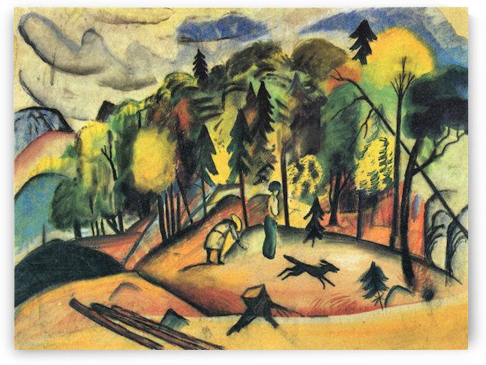 Forest Walk by August Macke by August Macke