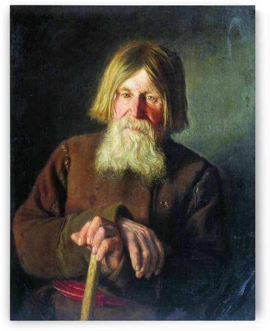 An old man by Vassily Maximovich Maximov