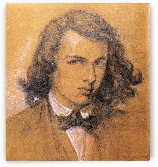 Self portrait scheme by Dante Gabriel Rossetti