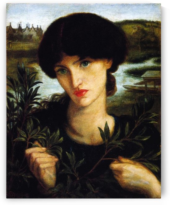 Water Willow 1871 by Dante Gabriel Rossetti