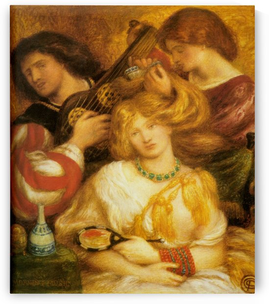 Morning music, 1864 by Dante Gabriel Rossetti