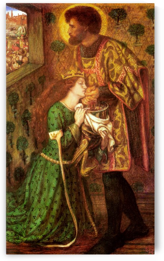 Saint George and the Princess Sabra by Dante Gabriel Rossetti