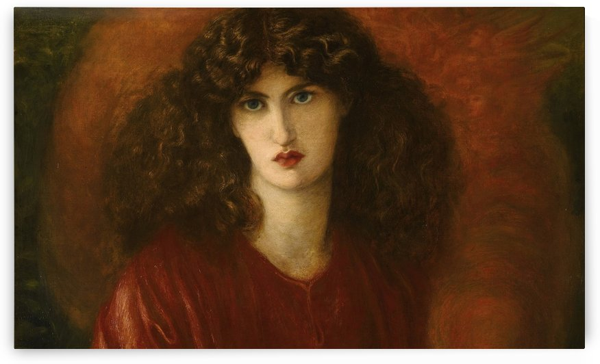 Blue eyes girl by Dante Gabriel Rossetti