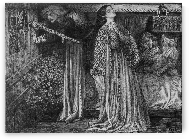 Sir Launcelot in the Queen Chamber by Dante Gabriel Rossetti