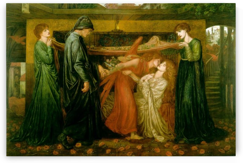 Dante dream at the time of the death of Beatrice by Dante Gabriel Rossetti