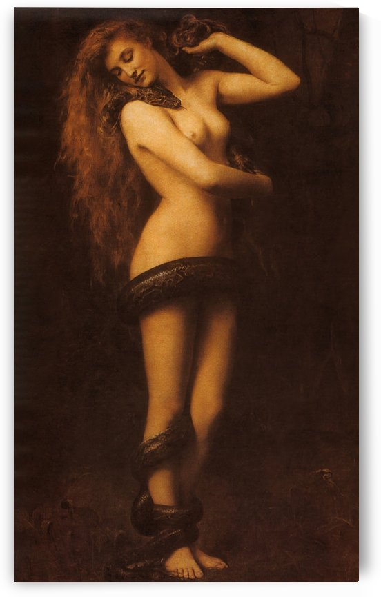 Collier on Lilith by Dante Gabriel Rossetti