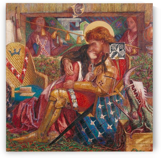 The Wedding of St George and Princess Sabra, 1857 by Dante Gabriel Rossetti