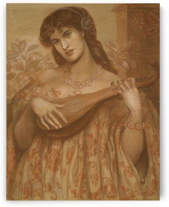 La mandolinata by Dante Gabriel Rossetti