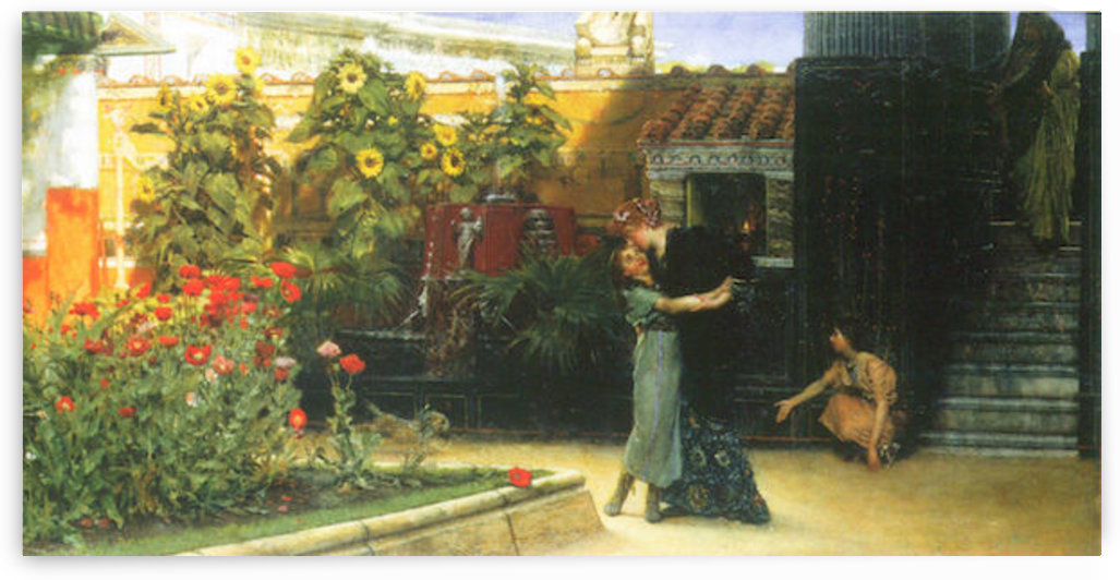 A warm welcome by Alma-Tadema by Alma-Tadema