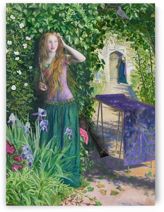 Young woman in the garden by Dante Gabriel Rossetti