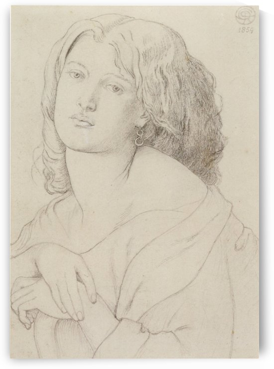 Fanny Cornforth graphite on paper 1859 by Dante Gabriel Rossetti