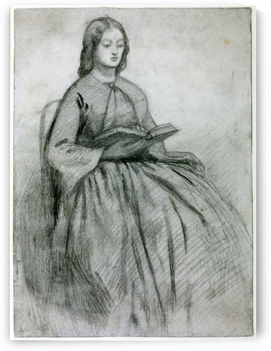 Elizabeth Siddall in a Chair by Dante Gabriel Rossetti
