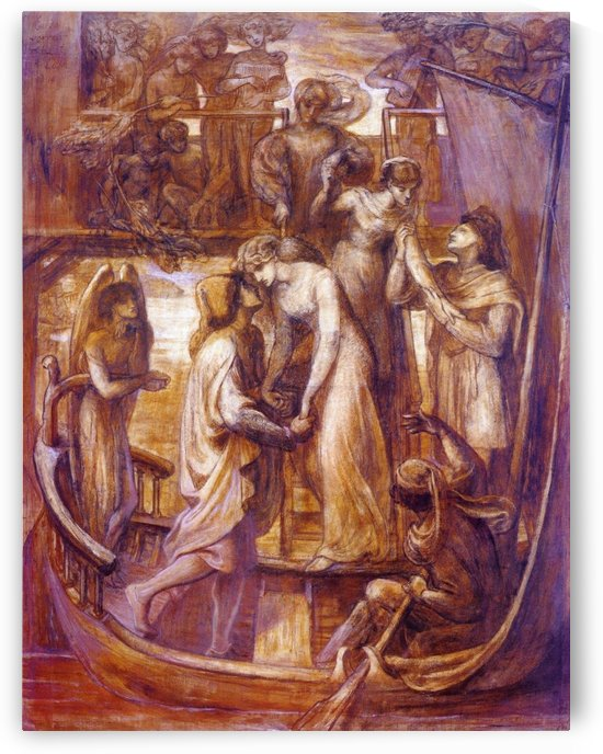 The boat of love 1874 by Dante Gabriel Rossetti