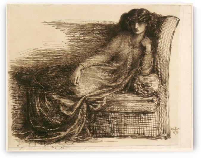 Jane Morris, 1870 by Dante Gabriel Rossetti