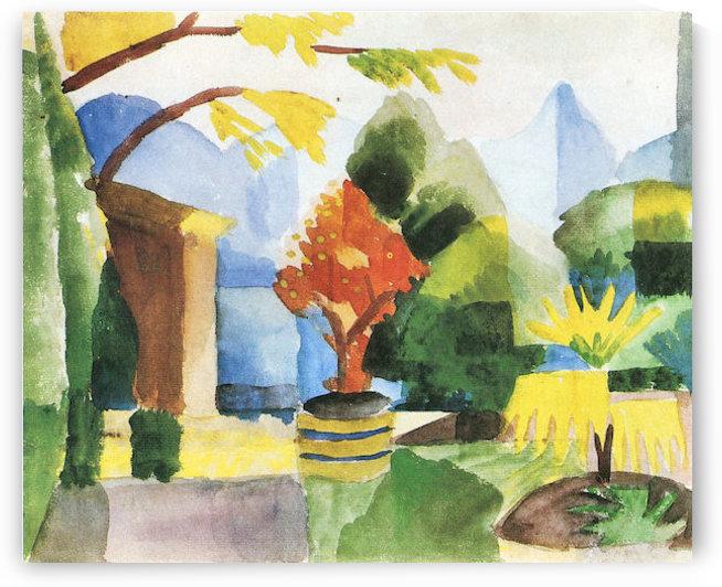 Garden in Hilterfingen by August Macke by August Macke