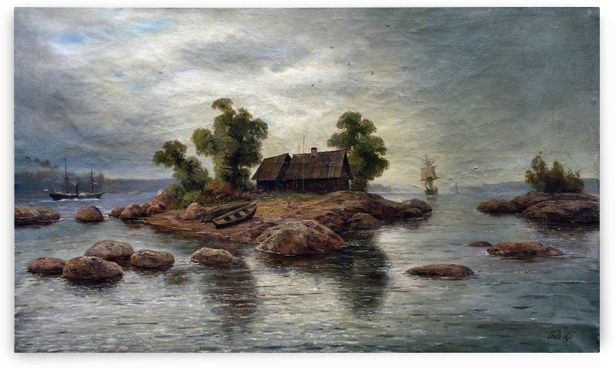 Farmhouse on the island by Lev Lagorio