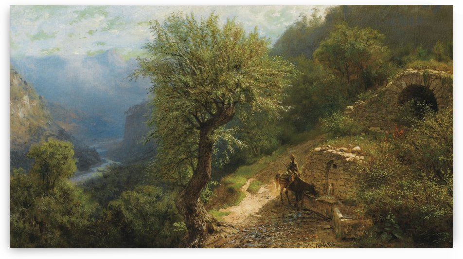 Horseman in the Caucasus Mountains by Lev Lagorio