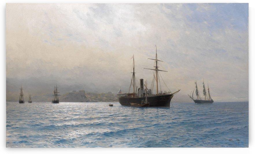 Ships on a Calm Sea by Lev Lagorio