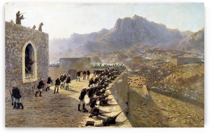 Defense of Bayazet, 1891 by Lev Lagorio
